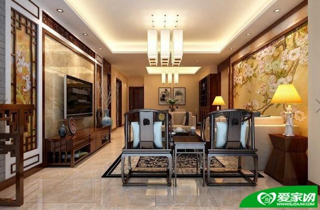 两室一厅118平中式装 ...